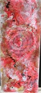 """Heureux /malheureux -n°297 - 30x60 - technique mixte - Non disponible -oeuvre récompensée """"couleurs et rythmes"""" Médaille or et Diplome au Salon international de l'Académie des Arts et Lettres de Marseille"""