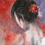 femme ballerine - 46x38 - acrylique - 255 €